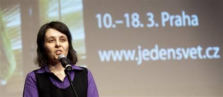 Nov� �editelka festivalu Jeden sv�t Hana Kulh�nkov�