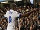 Samuel Eto´o z Interu Milán se raduje z gól v osmifinále Ligy mistrů na Chelsea
