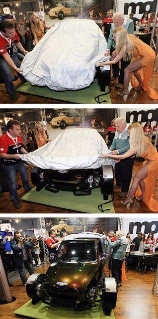 Na brněnském Motosalonu odhalili nový model Velor-X-Trike, dříve známý jako Velorex.