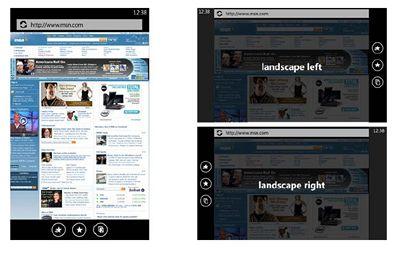 Windows Phone 7 Series - orientace displeje