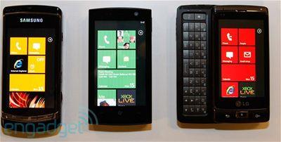 Windows Phone 7 Series - prototypy zařízení