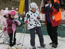 Karneval v lyžařském areálu v Němčičkách na Břeclavsku