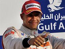 Lewis Hamilton dojel ve Velké ceně Bahrajnu na třetím místě