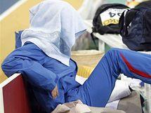 Ruská tyčkařka Jelena Isinbajevová se soustředí na svůj poslední pokus