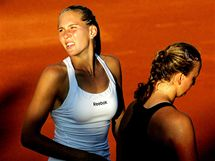 Tenistka Nicole Vaidišová při turnaji na pražské Štvanici. (13. července 2009)