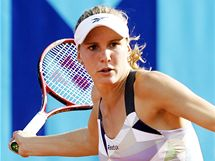 Tenistka Nicole Vaidišová při turnaji na pražské Štvanici. (14. července 2009)