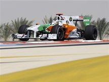 RYCHLÝ JAKO BLESK Z INDIE. Němec Sutil s vozem Force India vyhrál úvodní trénink GP Bahrajnu.