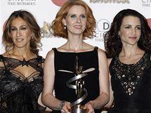Představitelky seriálu a filmu Sex ve městě - Sarah Jessica Parkerová, Cynthia Nixonová a Kristin Davisová