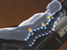 Masážní hlavice se přizpůsobí přesně tělu