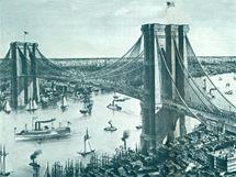 Brooklynský most v roce 1885