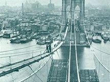 Stavba Brooklynského mostu - 1881
