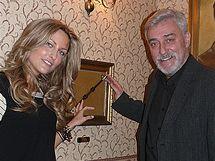 Modelka Zuzana Rosáková s tatínkem Janem Rosákem
