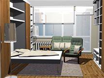 Ložnice v obývacím pokoji. Dvě varianty řešení