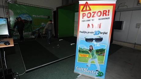 Golfový 3D simulátor na veletrhu Golf Show 2010.