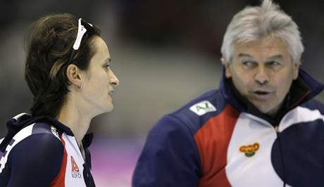 Martina Sáblíková a trenér Petr Novák