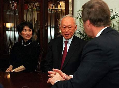 Li Kuang-jao a americký ministr obrany William S. Cohen
