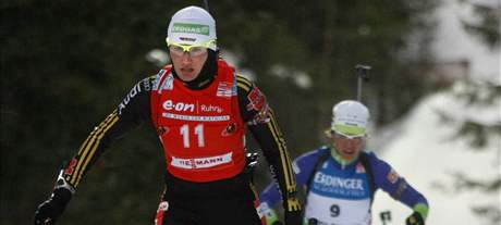 Simone Hauswaldová z Německa si v krutých podmínkách sibiřského Chanty Mansijsku dojela pro malý křišťálový glóbus za vítězství ve sprintu.