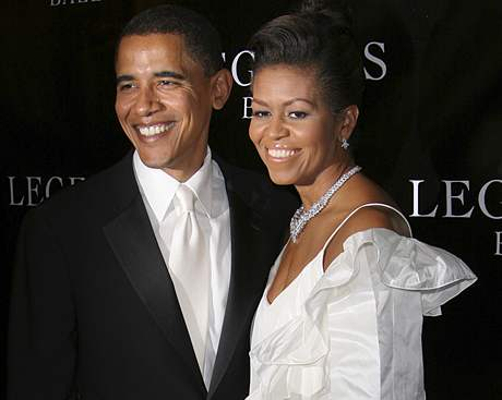 Michelle Obamová v šatech Maire Pintové