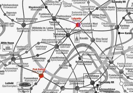 Mapa moskevského metra