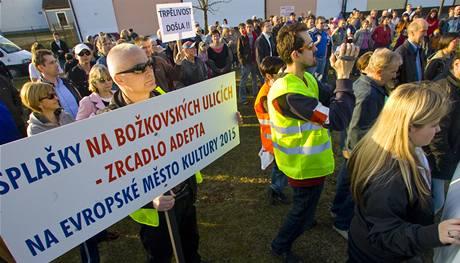 Demonstrace za lepší Božkov.