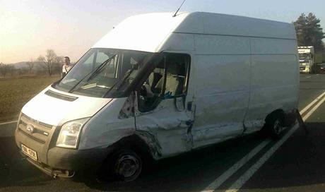 Dopravní nehoda na Benešovsku.