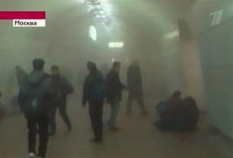 Výbuch v moskevském metru