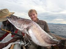 Lates angustifrons, jedna z nejméně probádaných sladkovodních ryb naší planety. Vůbec první existující snímek dospělého exempláře tohoto druhu
