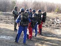 Trénink civilních pracovníků NATO z evropských zemí ve Vyškově - všichni mají zájem o účast v zahraniční misi