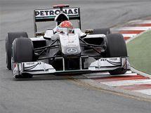 Michael Schumacher ze stáje Mercedes v kvalifikaci Velké ceny Austrálie.
