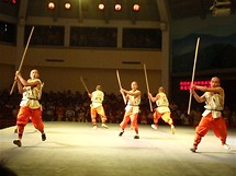 Ukázka dovedností mnichů z kláštera Shaolin