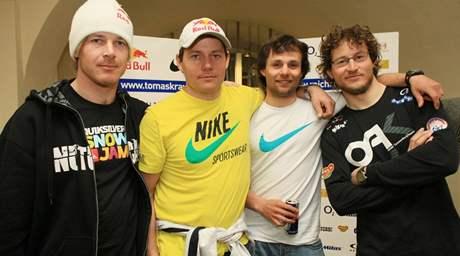 Zleva: Martin Černík, Tomáš Kraus, Robin Kaleta, Michal Novotný