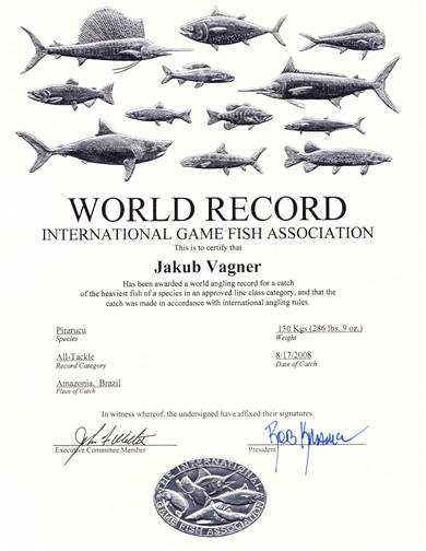 Certifikát o světovém rekordu