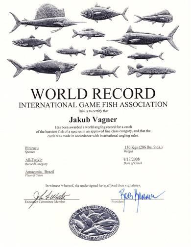 Certifik�t o sv�tov�m rekordu