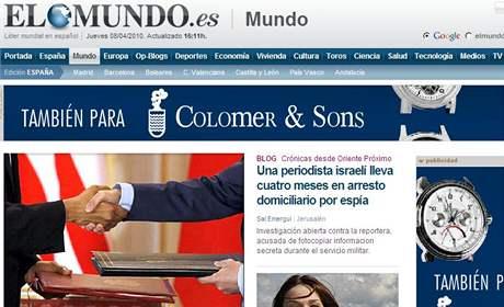Zpravodajský server španělského listu El Mundo