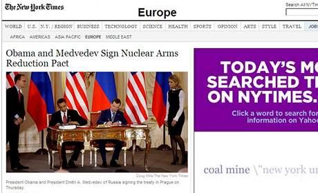 Zpravodajský server amerického deníku The New York Times