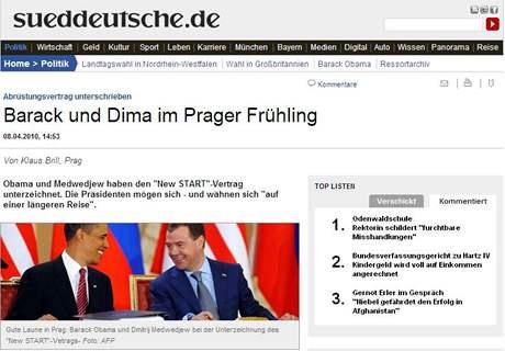 Zpravodajský server německého deníku Süddeutsche Zeitung