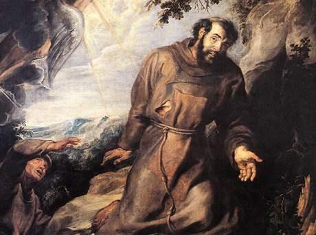 Svatý František z Assisi na obraze Petera Paula Rubense, asi rok 1630