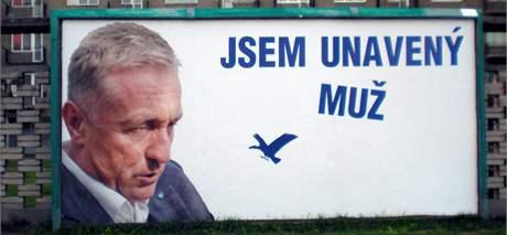 Předvolební billboard proti straně ODS nedaleko Mendlova náměstí v Brně.
