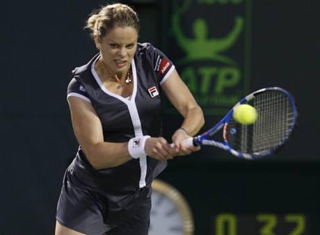 Kim Clijstersová v utkání se Samantou Stosurovou na turnaji v Miami