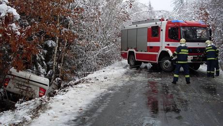 Nehoda u obce Žumberk