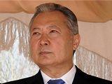 Kurmanbek Bakijev se slovenským prezidentem Ivanem Gašparovičem v Biškeku (1. dubna 2010)