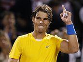 Rafael Nadal na turnaji v Miami, po vítězném zápase s Wilfriedem Tsongou