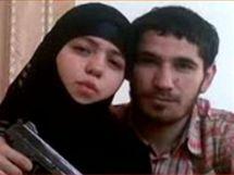 Údajná atentátnice z ruského metra Džennet Abdurachmanovová a její manžel Umalat Magomedovov na záběru televize Russia Today