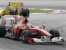 Druhý trénink na Velkou cenu Malajsie - Fernando Alonso