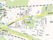 Detailní mapa s nejbližšími parkovišti
