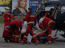 Při vlakovém neštěstí ve Spišské Nové vsi zemřeli tři lidé (1. dubna 2010)