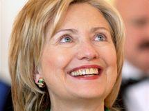 Podpisu smlouvy START ve Španělském sále Pražského hradu se zúčastnila i americká ministryně zahraničí Hillary Clintonová. (8. dubna 2010)
