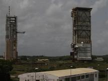 Kosmodrom v Kourou, Francouzská Guyana: původní odpalovací rampa, ze které odstartovala první raketa Ariane. Příští rok bude zbourána.