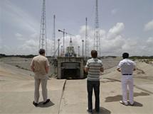 Kosmodrom v Kourou, Francouzská Guyana: stavba odpalovací rampy pro ruské rakety Sojuz