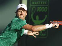 Tomáš Berdych bojuje na tenisovém turnaji v Miami.